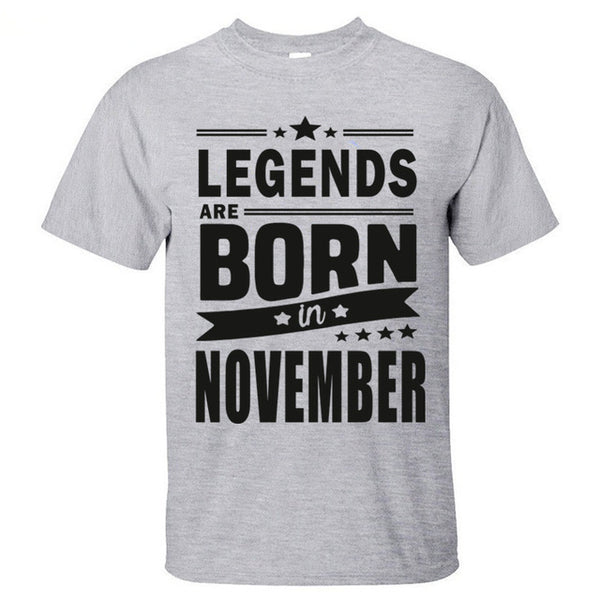Legends Are Born In November Mens T Shirt - TimeForClothes
