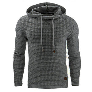 Mens Fundamental Long Sleeve Casual Hoodie - TimeForClothes