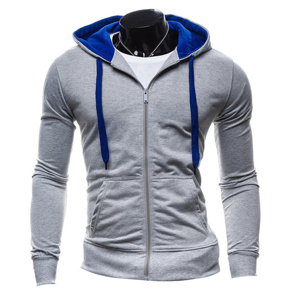 Stylish Mens Hooded Zipper Casual Jacket - TimeForClothes