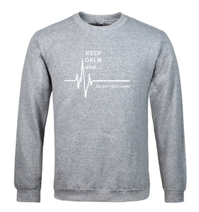 Mens Keep Calm and...Not That Calm Funny Heart Rate Sweater - TimeForClothes