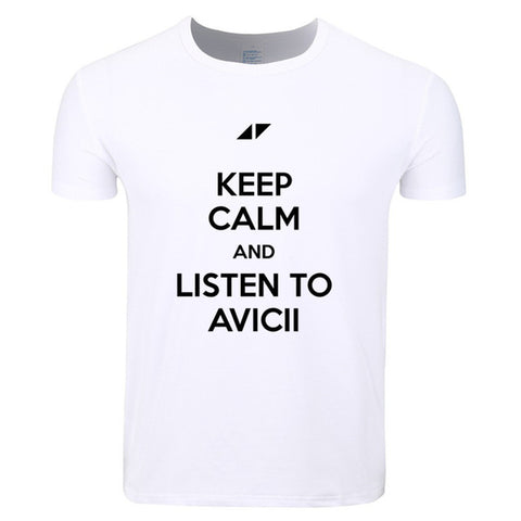 Keep calm and listen to Avicii Mens T Shirt - TimeForClothes