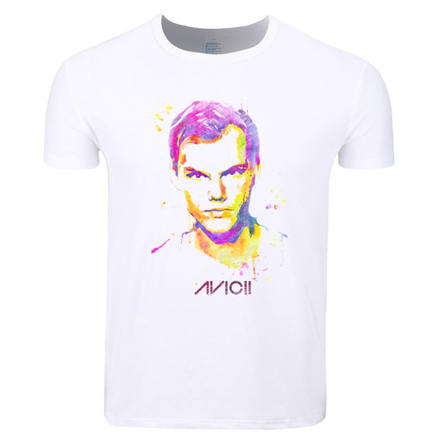 Colorful Avicii Tribute Art Design Mens T Shirt - TimeForClothes
