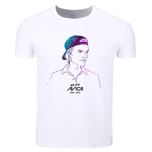 Avicii Tribute Art Design Mens T Shirt - TimeForClothes