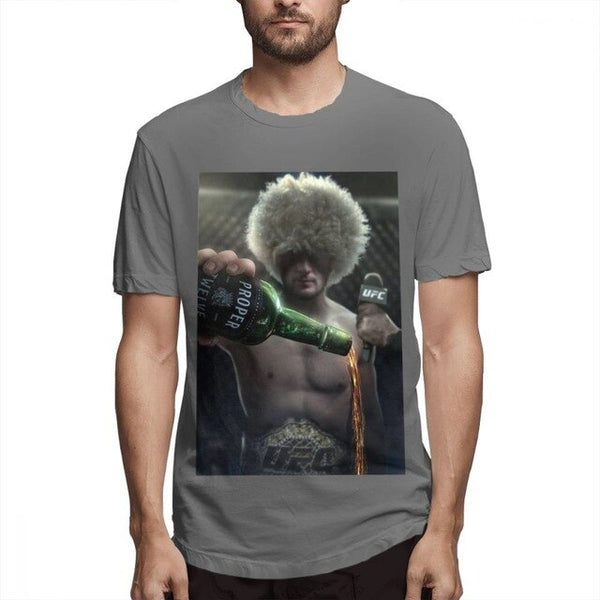 Khabib Nurmagomedov Tipping Out Conor Mcgregor's Proper Whiskey Mens T Shirt - TimeForClothes