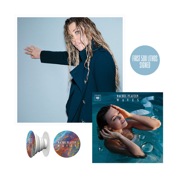 Waves CD + Litho + Pop Socket Bundle