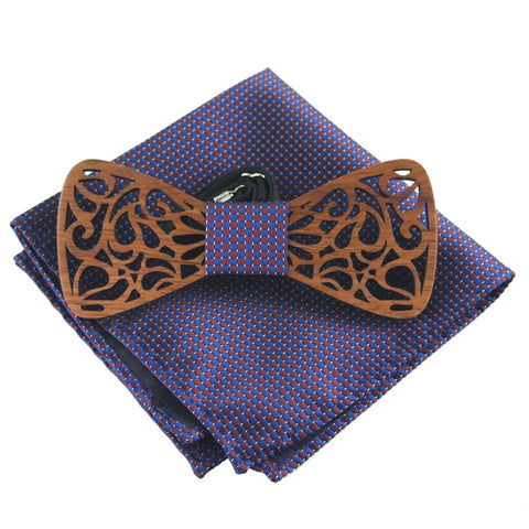 Beautiful Bow Tie & Pocket Square - The Wud Shop