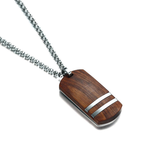 Rosewood Dog Tag Necklace