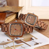 Couples wood watch set
