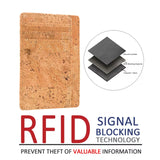 Slim Corkwood Wallet with RFID Block