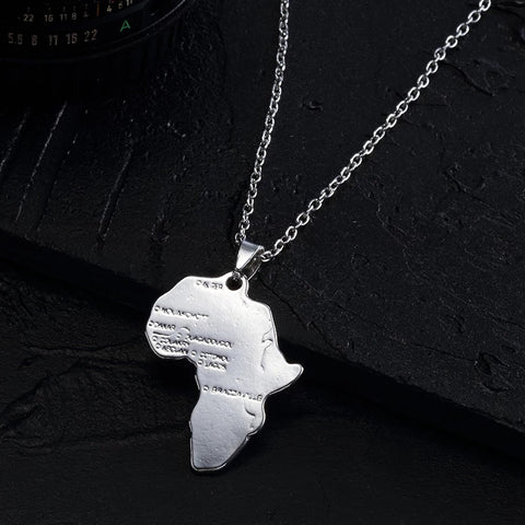 Silver Filled Africa pendant necklace