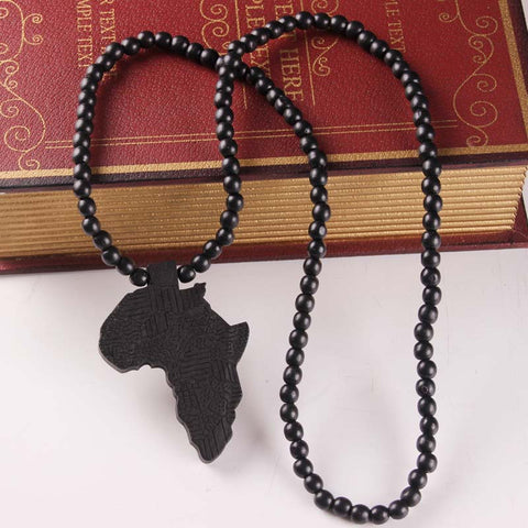 Africa Map Pendant Necklace - The Wud Shop