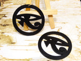 Wooden Eye Earrings