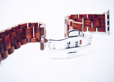 Men's Wooden Apple Watchband