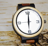 Multicolored Band Wood Watch