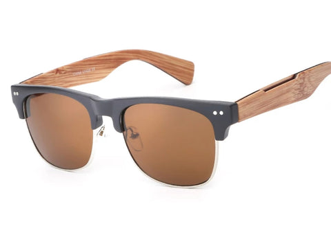 Brown Bamboo Sunglasses