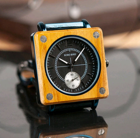 Yellow square face watch