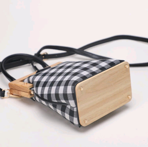 Wood and Canvas Clutch