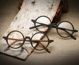 Two Pair of Wood glasses with circular frame