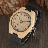 Pale Bamboo Watch with Vegan Leather Band