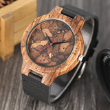 Marble Bamboo Watch with Vegan Leather Band