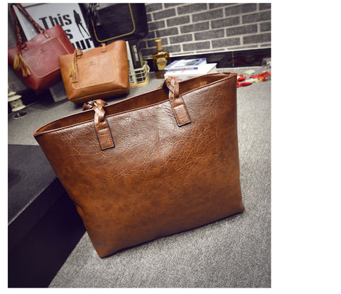 Large Vintage Leather Tote Bag