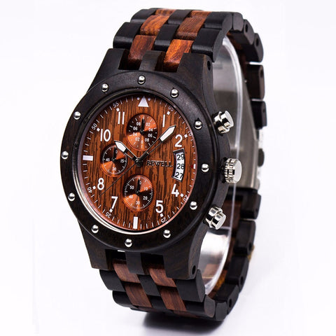 Chronograph Wooden Watch - The Wud Shop