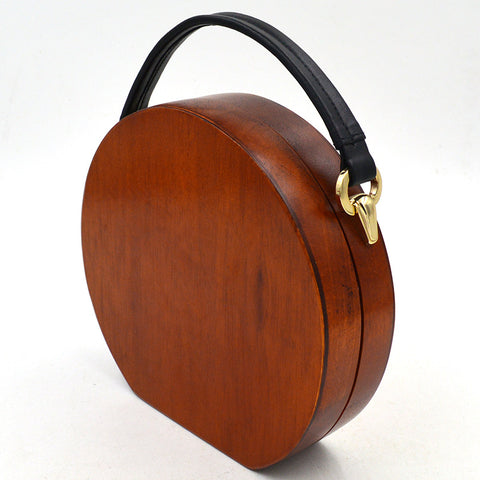 Retro wooden dinner bag
