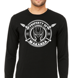 Property of Wakanda T-Shirts (Long Sleeve)! - The Wud Shop