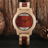 Skeleton Bamboo Watch Pale and Red wood