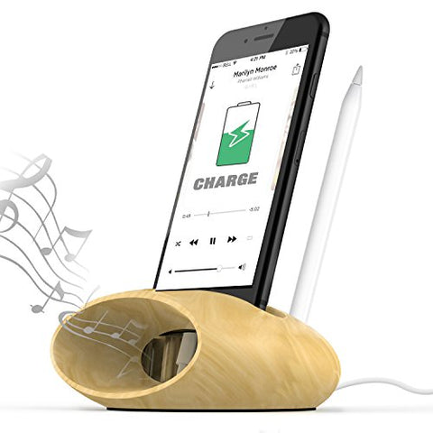Universal Cell Phone Charging Dock with Natural Sound Amplifier - The Wud Shop
