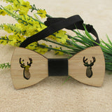 Laser-Cut Wooden Bow Tie Deer