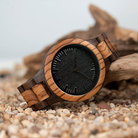 Zebra Bamboo Wood Watch - The Wud Shop