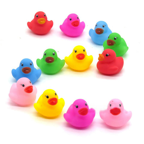 1pcs/mini Color Newborn Babies Swiming Bath Floating Latex Children Squeeze-sounding Dabbling Ducks