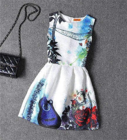 Summer Family Look Dress Family Print Sleeveless Clothes Mom and Daughter Dress Famliy Matching Outfits Vetement Famille