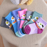 Cotton socks antibacterial deodorant sweat socks children's cartoon old baby socks warm socks