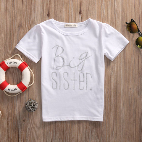 Big Sister/Little Brother Family Matching Cotton Baby Clothes