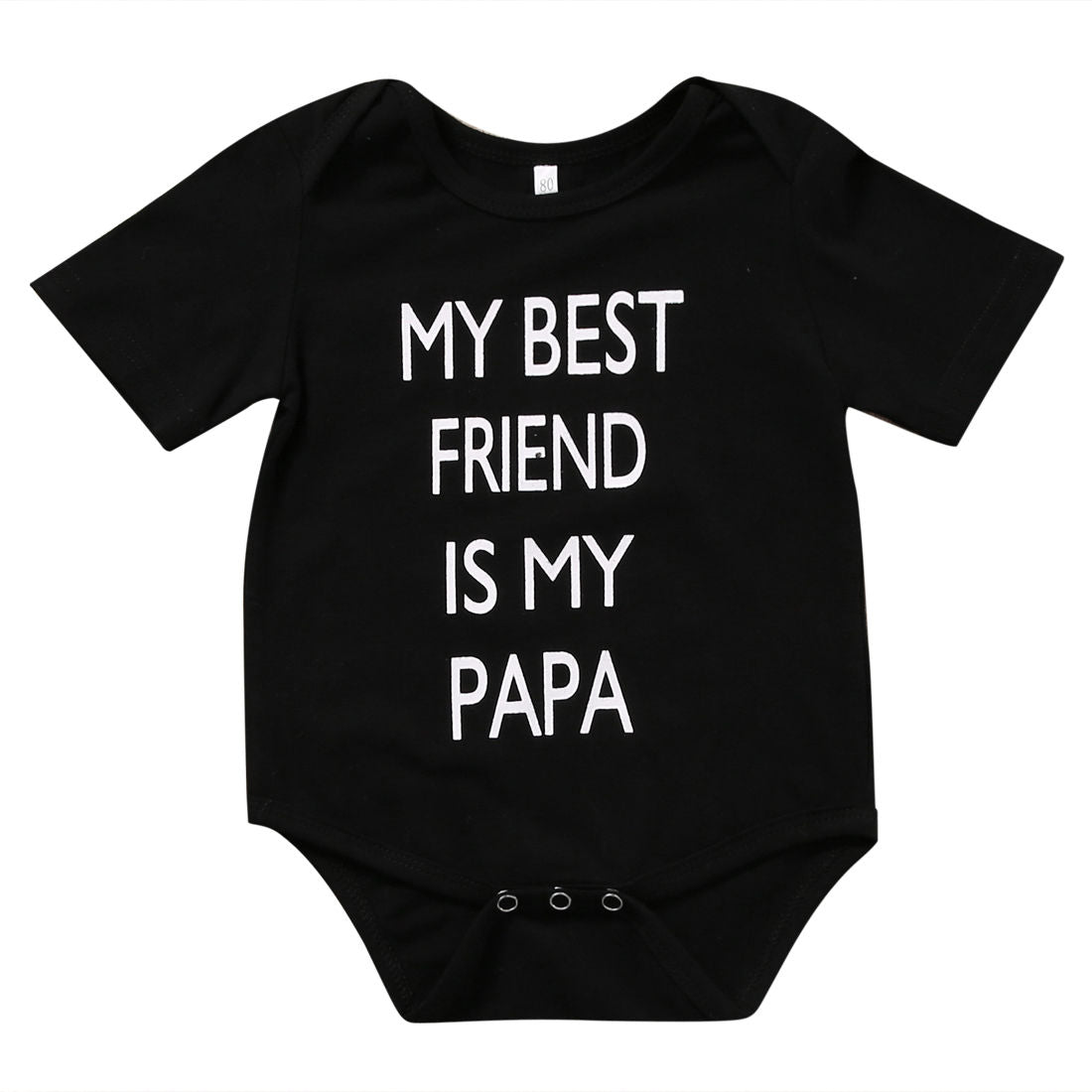 'My Best Friend is My Papa' Newborn Onesie