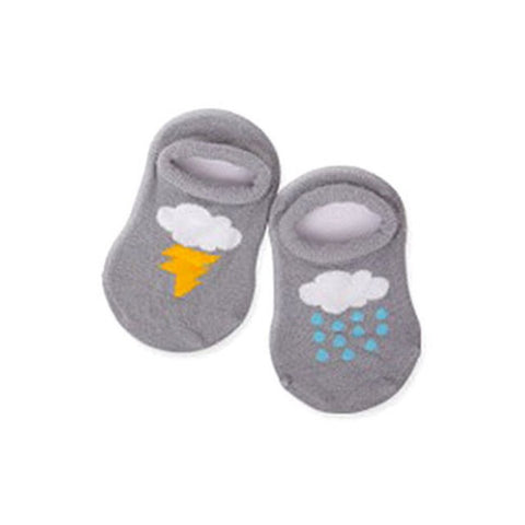 Child Kid Boy Baby Girl Soft Ankle Socks Cute Cloud Print Cotton Anti-slip Warm Socks
