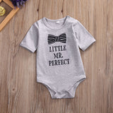 Newborn Toddler Infantil Baby Girls Baby Boys Kids Romper Bow Printed Playsuit Outfit Sets