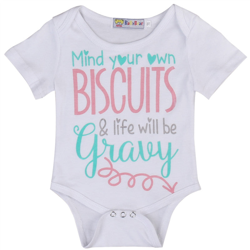 Toddler Infant Baby Boys Girls Cotton Short Sleeve Jumpsuit Bodysuit Casual Clothes Outfits