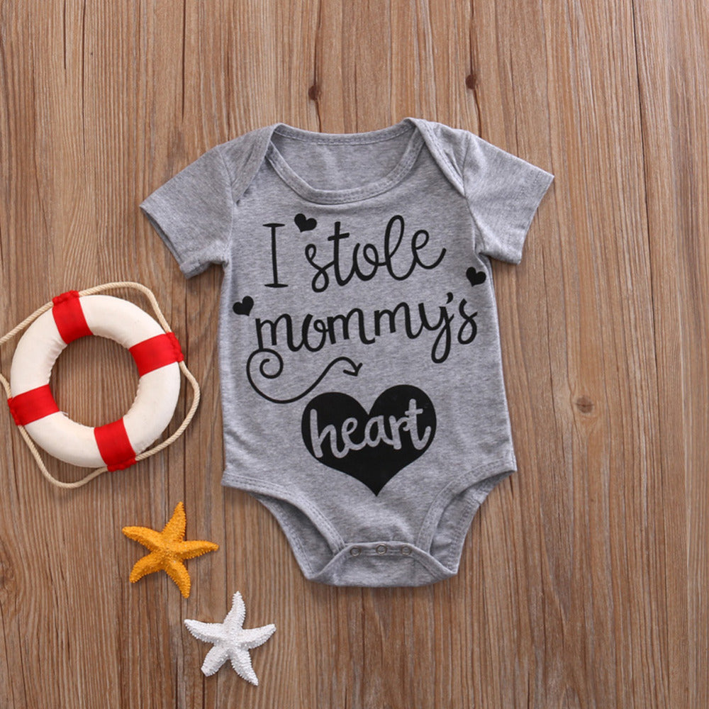 Toddler Infant Newborn Baby Girl Boy Short Sleeve Bodysuit Sunsuit Jumpsuit Brief