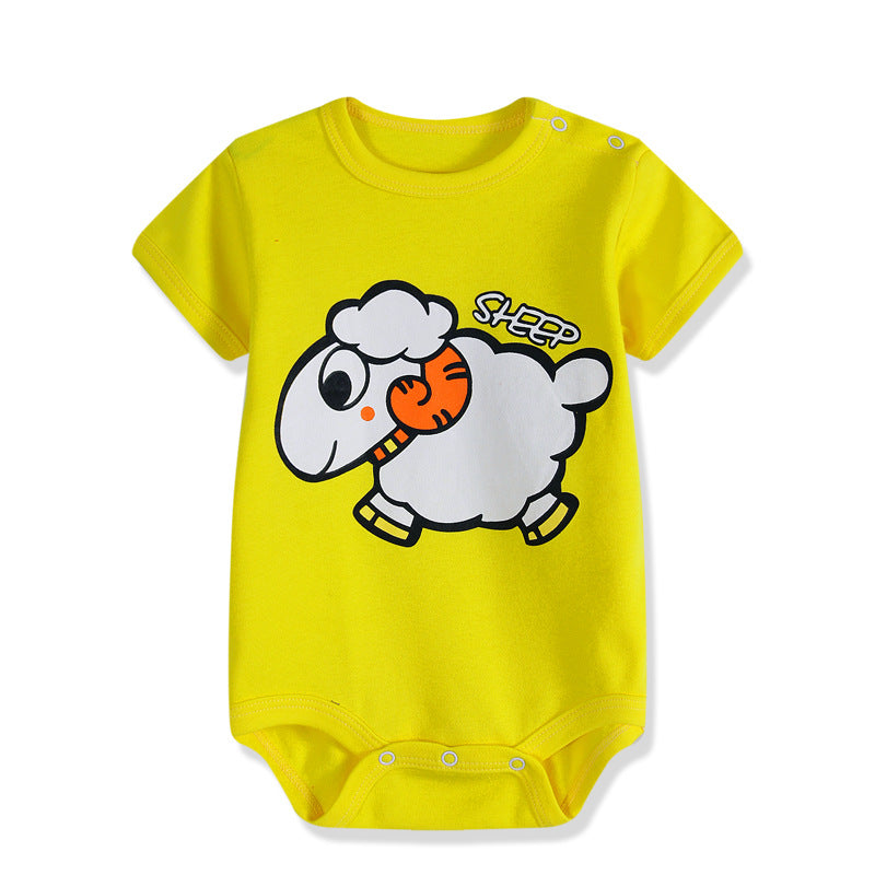 Short-Sleeved Baby Infant cartoon bodysuits for boys girls jumpsuits Clothing 2019