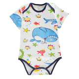 Cotton bodysuits Retail Cartoon Style Baby Girl Boy Summer Clothes Newborn