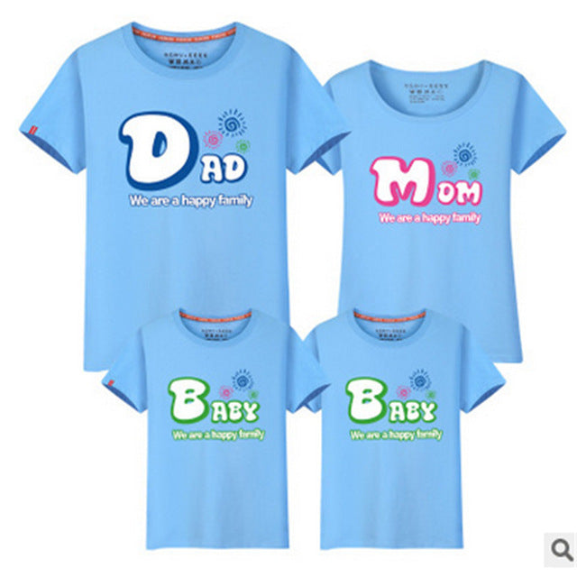 LD1004911 summer lovers clothes matching clothes matching clothes family matching outfits parents babies Dad Mom Baby T-shirts