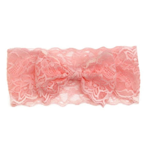 Fashion Girls Lace Big Bow Hair Band Head Wrap Band Accessories #LSW