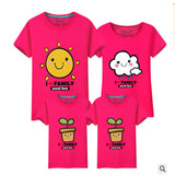 LD10385 summer lovers clothes matching clothes matching clothes family matching outfits parents babies Dad Mom Baby T-shirts
