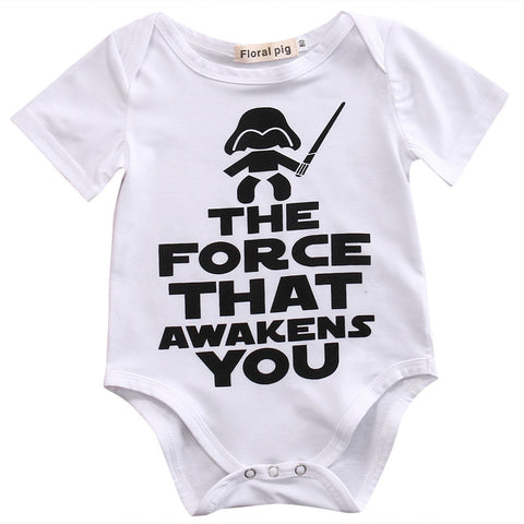'The force that awakens you' Baby Onesie