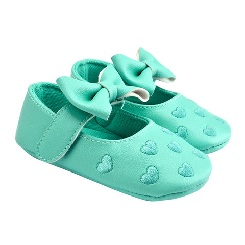 Baby Shoes Newborn Girl Baby Moccasins Shoes Soft Infants Crib Bowknot Shoes Sneakers First Walker