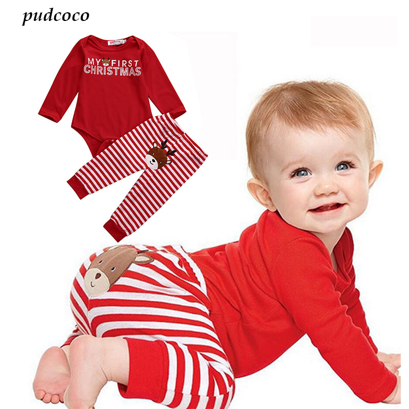 BabyMomPlanet My First Christmas Baby Shirt and Pants