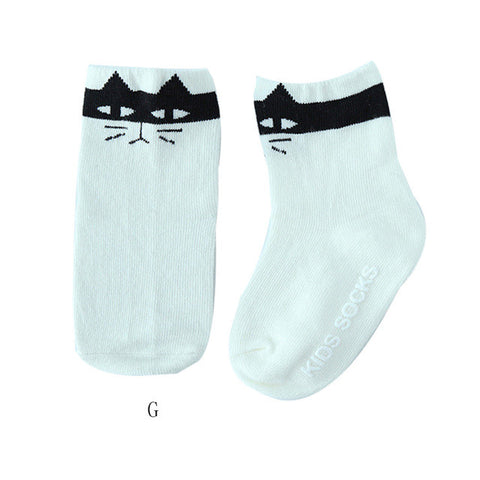 Baby Infant Socks Newborn Cotton Boy Girl Cute Asymmetry Toddler Anti-slip Socks